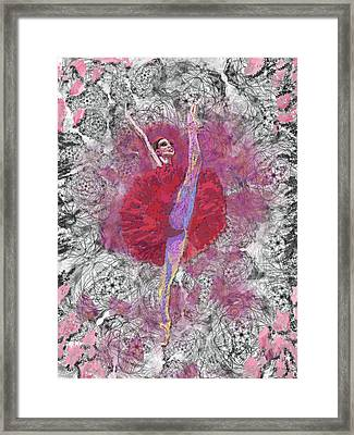 Red Tutu Framed Print