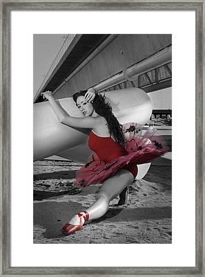 Red Tutu Framed Print