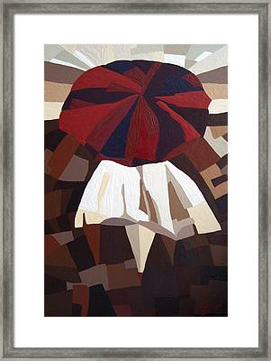 Red Umbrella Framed Print by Alena Samsonov