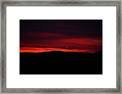 Red Velvet Sky Framed Print by Kevin Bone