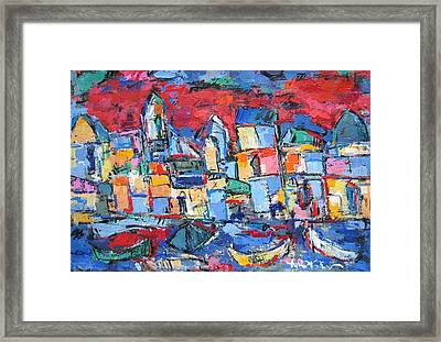 Red Venice Framed Print