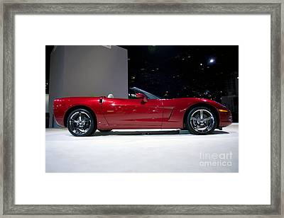 Red Vette Framed Print by Alan Look
