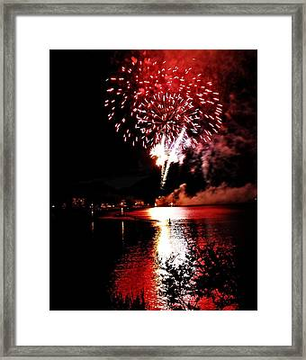 Red Water City Framed Print by Don Mann