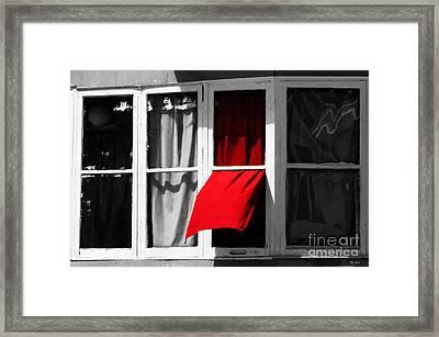 Red Wave Framed Print