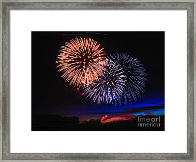 Red White And Blue Framed Print by Robert Bales
