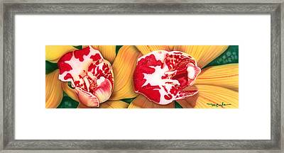 Framed Print featuring the painting Red White And Yellow by Dan Menta