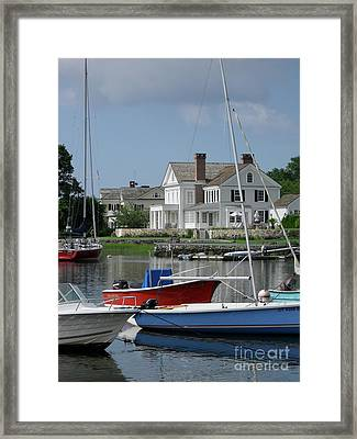 Framed Print featuring the photograph Red White Blue by Beth Saffer