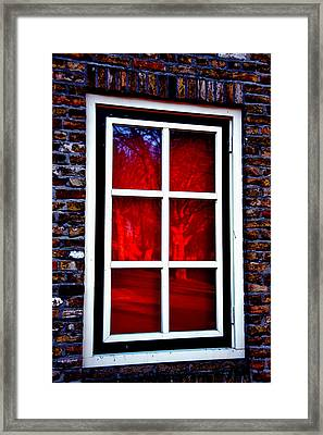 Red Window Holland Framed Print