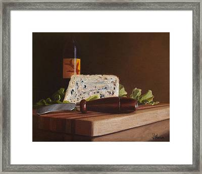 Red Wine And Bleu Cheese Framed Print