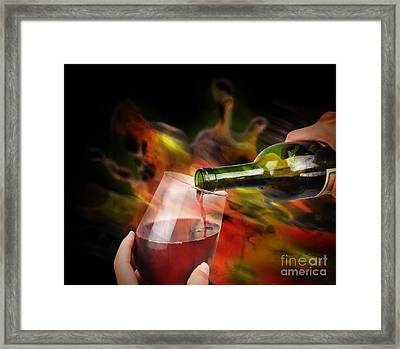 Red Wine Celebration Framed Print by Angela Waye