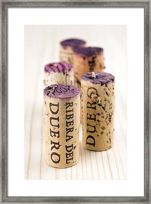 Red Wine Corks From Ribera Del Duero Framed Print