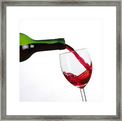 Red Wine Framed Print by Mark Sykes