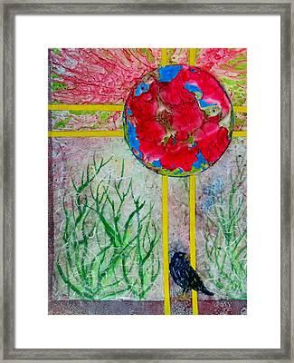 Red World Framed Print by David Raderstorf