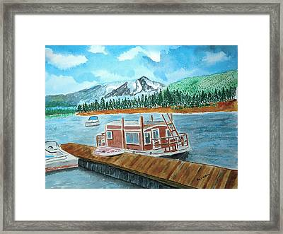 Redfish Lake Framed Print by Don L Williams
