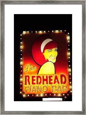 Redhead Framed Print by Zannie B