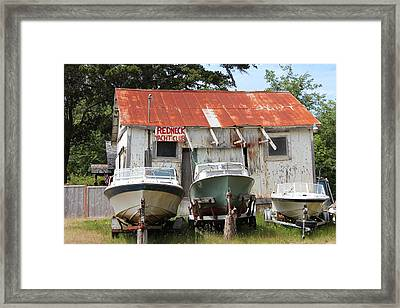 Redneck Yacht Club Framed Print by Michael Wolfe