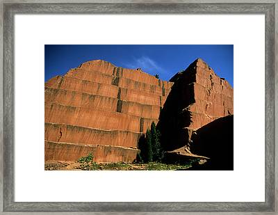 Redrocks Stone Quarry Framed Print