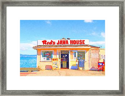 Reds Java House At San Francisco Embarcadero Framed Print