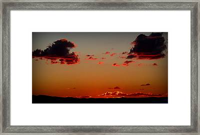 Reds Of An Autumn Sky Framed Print by Aaron Burrows