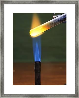 Reduction Of Copper Framed Print