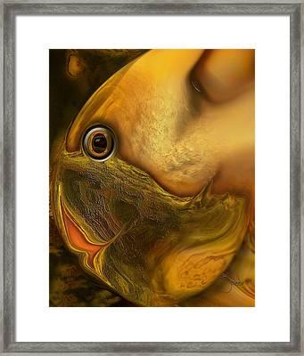 Framed Print featuring the digital art Reef Mistress by Steve Sperry
