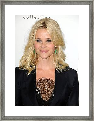 Reese Witherspoon At Arrivals For Elles Framed Print by Everett