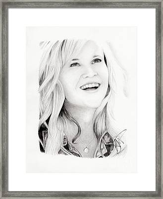 Reese Witherspoon Framed Print by Rosalinda Markle