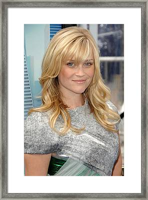 Reese Witherspoon Wearing A Rodarte Framed Print by Everett