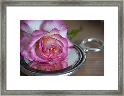 Reflected Beauty L Framed Print by Shirley Mitchell