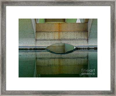 Reflected Framed Print by Lin Haring
