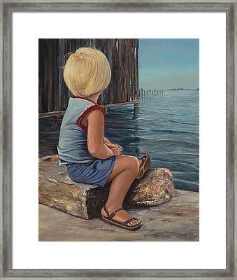 Reflecting Framed Print by AnnaJo Vahle