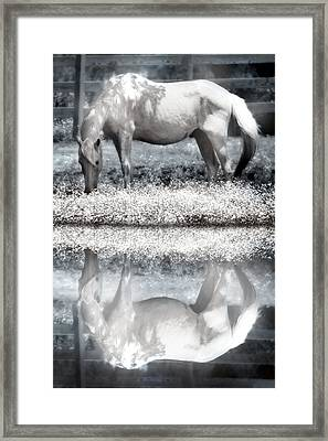Framed Print featuring the digital art Reflecting Dreams by Mary Almond