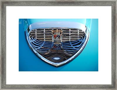 Framed Print featuring the photograph Reflecting Ford by John Schneider