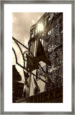 Reflecting In Little Italy Framed Print by Catie Canetti