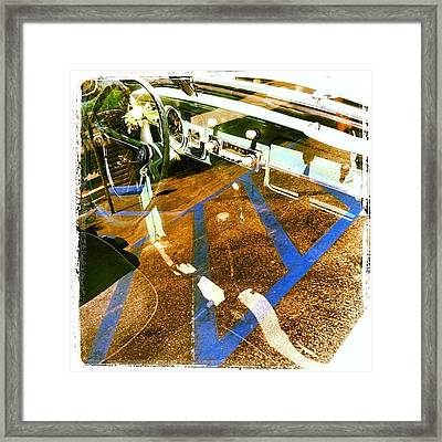 Reflecting Moment Framed Print by Gwyn Newcombe