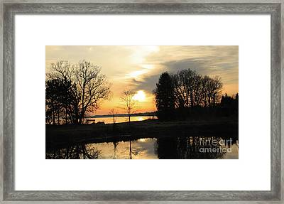 Reflecting Moments Of Solitude Framed Print by Inspired Nature Photography Fine Art Photography