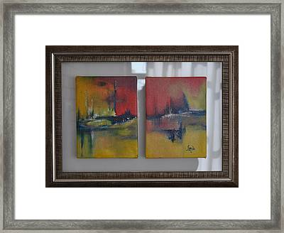 Reflecting Mystique Framed Print