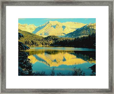 Framed Print featuring the photograph Reflecting On Auke Lake by Myrna Bradshaw