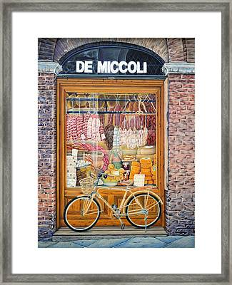 Reflecting On Lunch In Sienna Framed Print