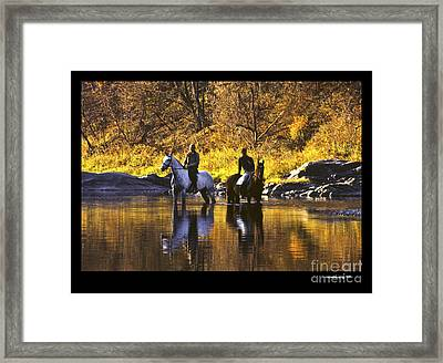 Reflecting On The Ride Framed Print