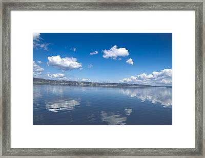 Reflecting Sky Framed Print by Julie Smith