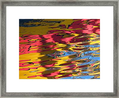 Framed Print featuring the photograph Reflection Abstraction by Darleen Stry