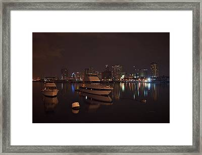 Reflection At Harbor Framed Print by Arj Munoz