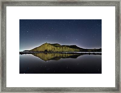 Reflection In Lake Framed Print by Ser-y-star