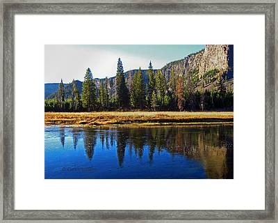Reflection In The Rocky Mountains Framed Print