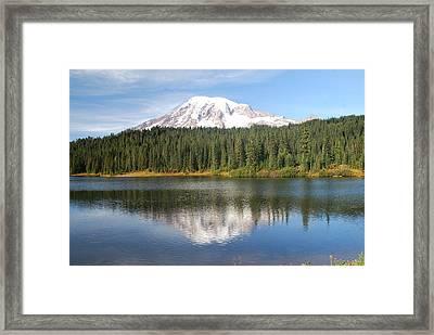 Reflection Lake - Mt. Rainier Framed Print