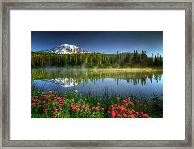 Reflection Lakes Framed Print