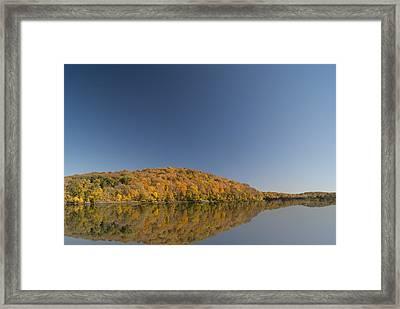 Reflection Lane Framed Print by Joe Medina
