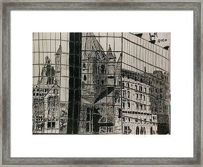 Reflection Of A Church Framed Print by Jamie Mah