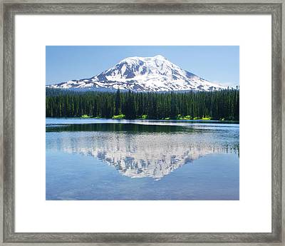 Reflection Of Adams Framed Print by Ansel Price
